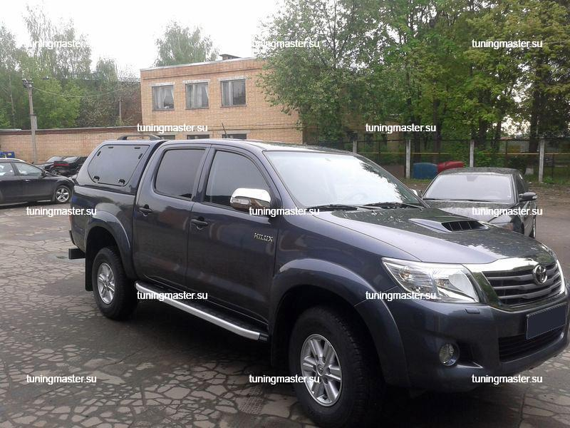 Пороги алюминиевые Toyota Hilux (Alyans)