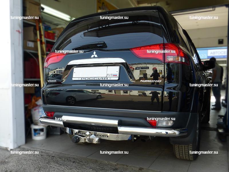 Защита заднего бампера Mitsubishi Pajero Sport 6