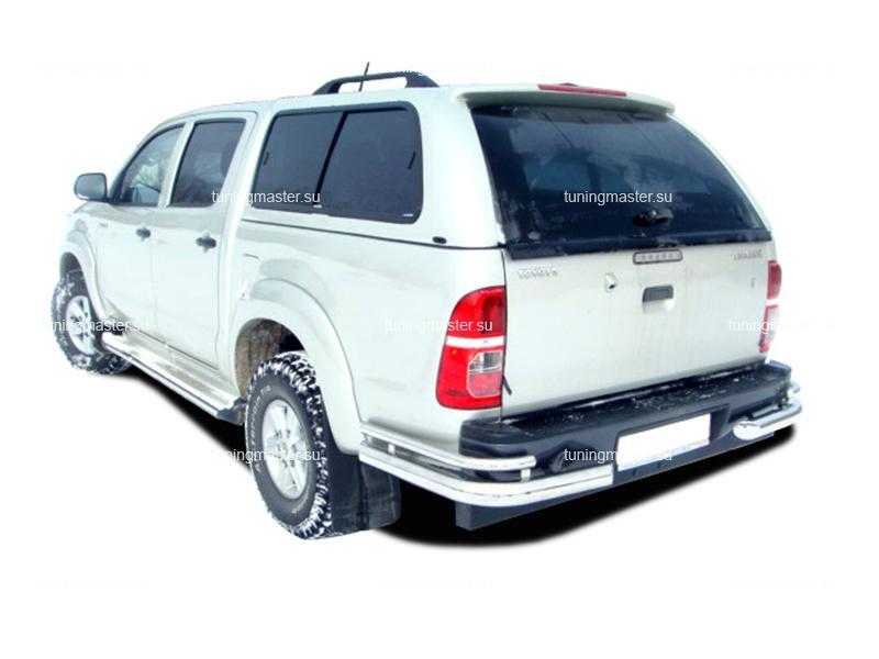 Защита заднего бампера Toyota Hilux углы двойные Ø76/42
