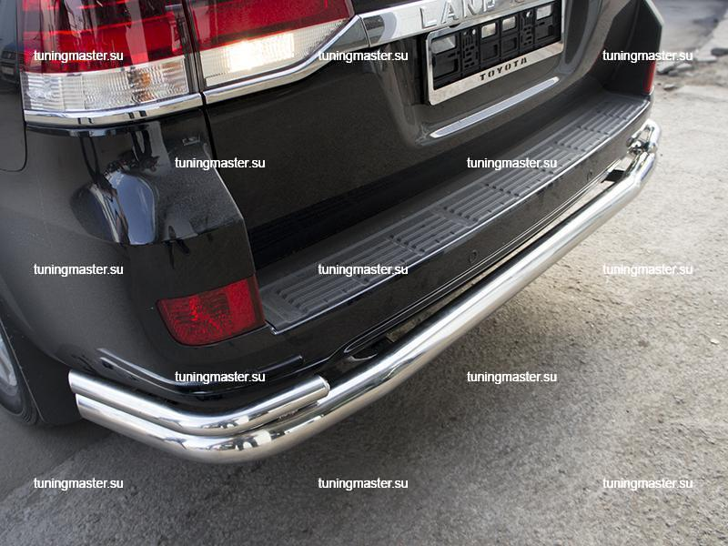 Защита заднего бампера Toyota Land Cruiser 200 (2)