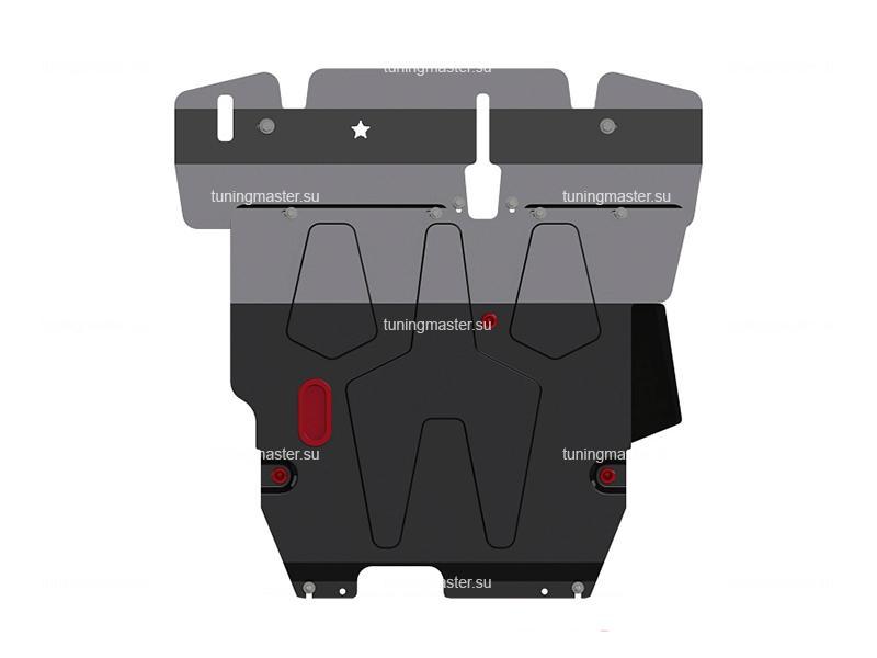 Защита картера и КПП Mitsubishi Lancer 9