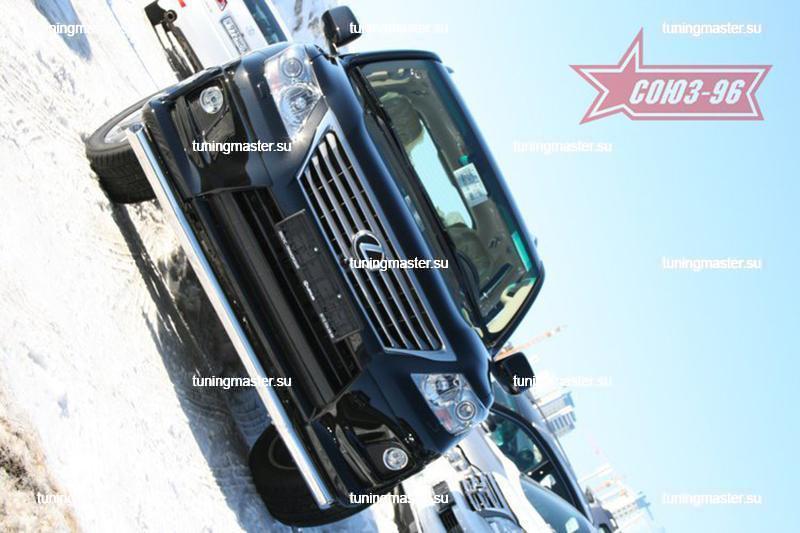 Защита переднего бампера Lexus LX570 Sport труба Ø76