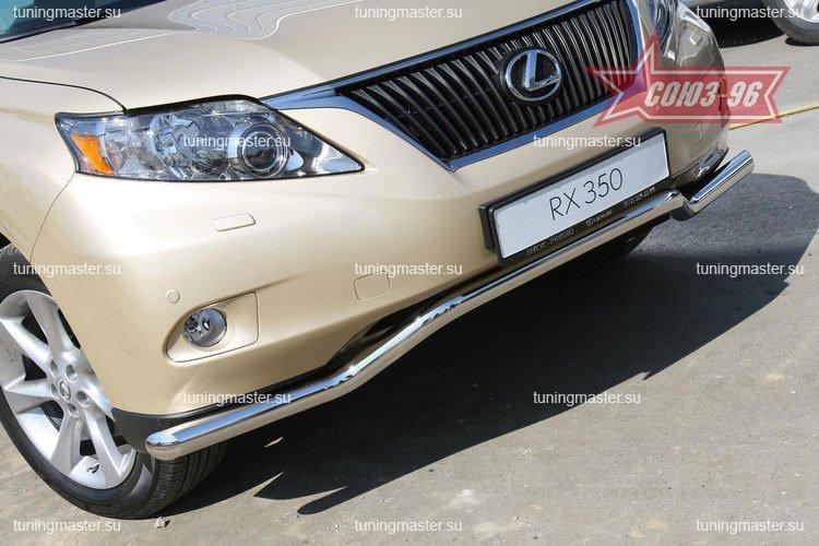 Защита переднего бампера LexusRX 350 труба Ø60