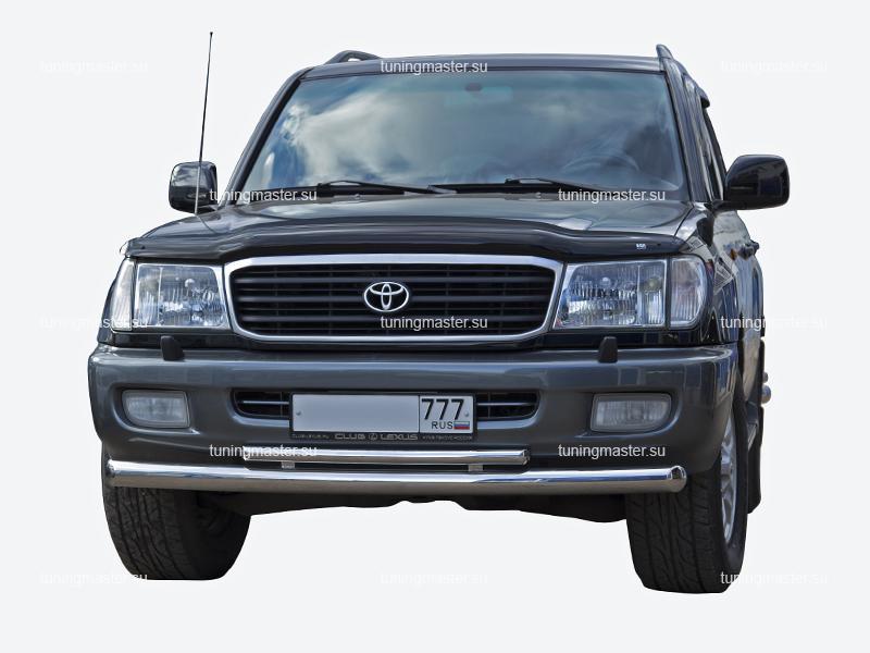Защита переднего бампера Toyota Land Cruiser 100 двойная Ø76/48