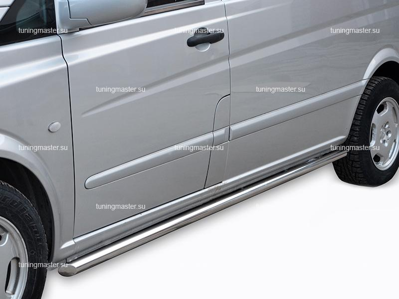 Защита штатного порога Mercedes Benz Vito труба Ø60