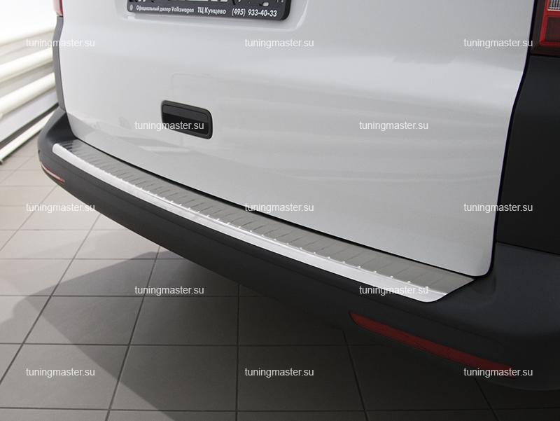 Накладка на задний бампер VolksWagen Transporter Т5 с загибом
