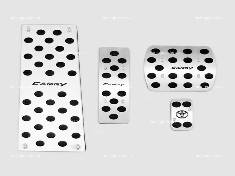 Накладки на педали Toyota Camry с логотипом