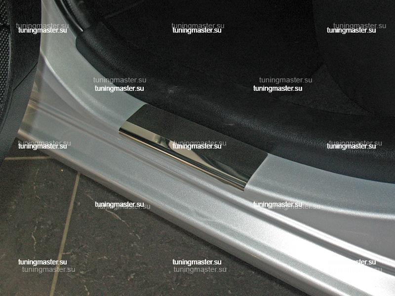 Накладки на пороги Toyota Yaris 3 с логотипом