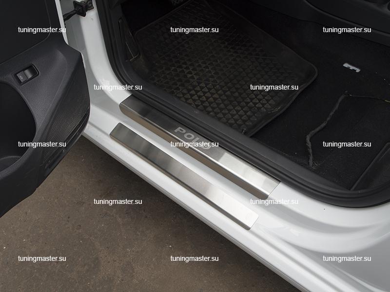 Накладки на пороги Volkswagen Polo STANDART
