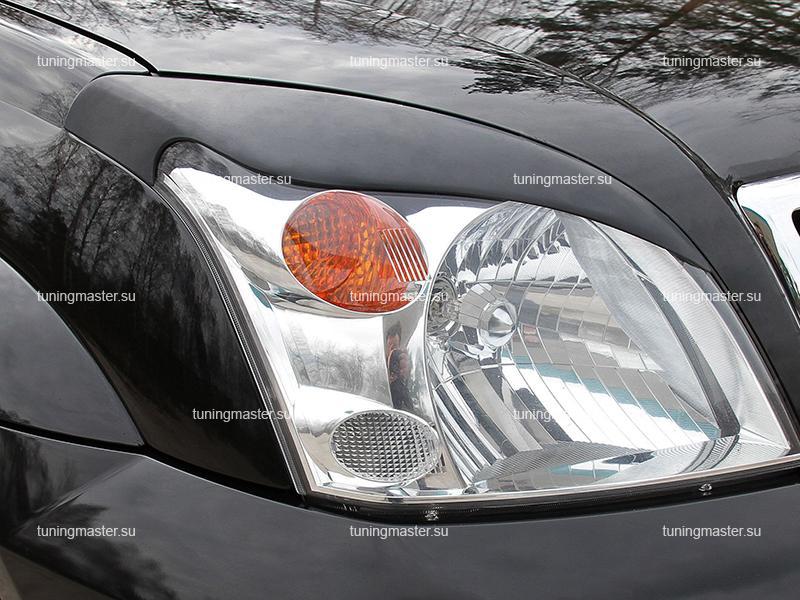 Накладки на фары Toyota Land Cruiser Prado 120