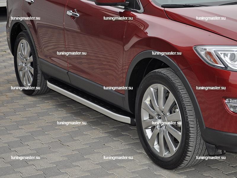 Пороги алюминиевые Mazda CX-9 (Alyans)