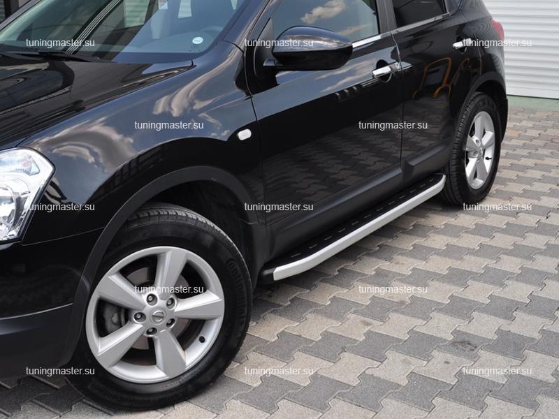Пороги алюминиевые Nissan Qashqai (Alyans)