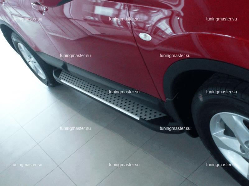 Пороги алюминиевые Nissan Qashqai (Sapphire)