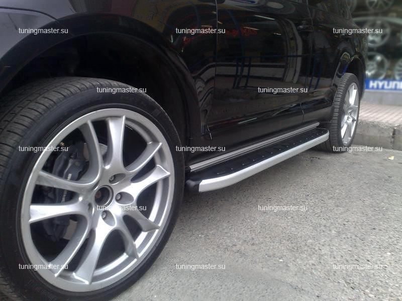 Пороги алюминиевые Porsche Cayanne (Alyans)