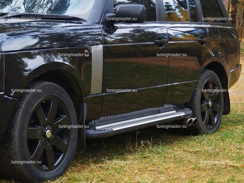 Пороги алюминиевые Range Rover Vogue (Sapphire)