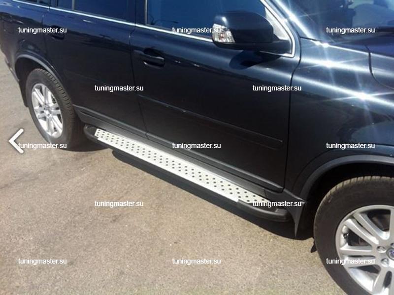 Пороги алюминиевые Volvo XC90 (Sapphire)