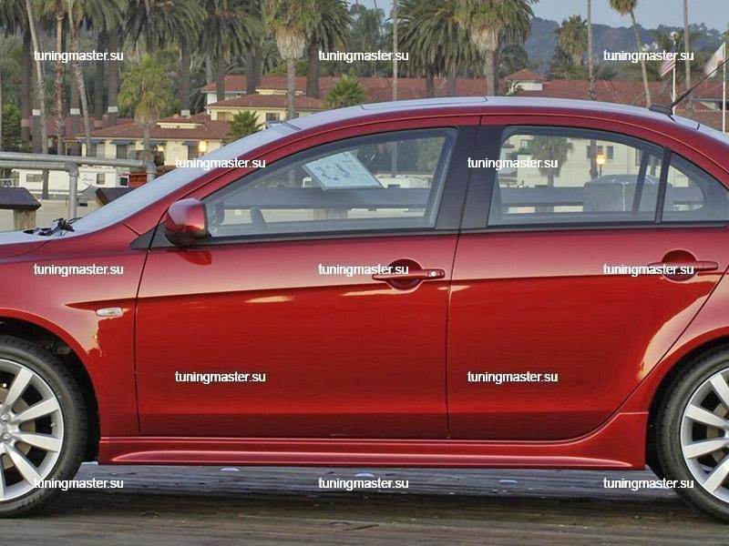 Пороги боковые Mitsubishi Lancer 10 Sport