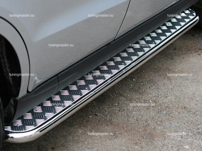 Пороги Honda CR-V труба с листом Ø60
