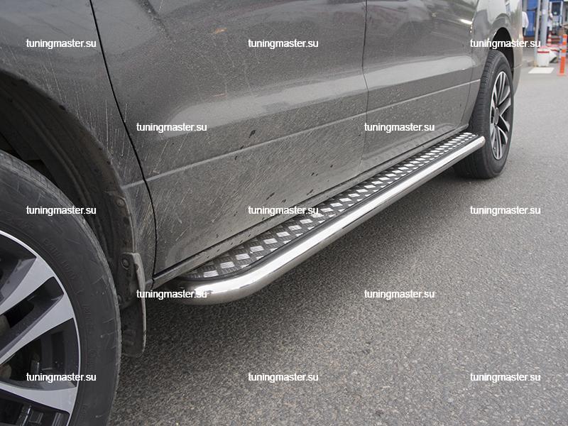 Пороги Hyundai Grand Starex труба с листом Ø60