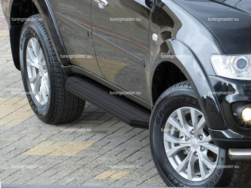 Пороги Mitsubishi Pajero Sport (Black)