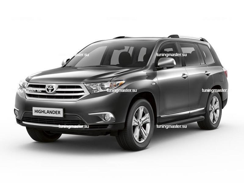 Пороги Toyota Highlander (Black)