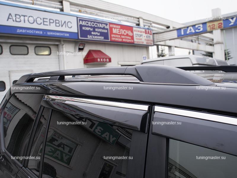 Рейлинги на крышу для Toyota Land Cruiser Prado 150 черные