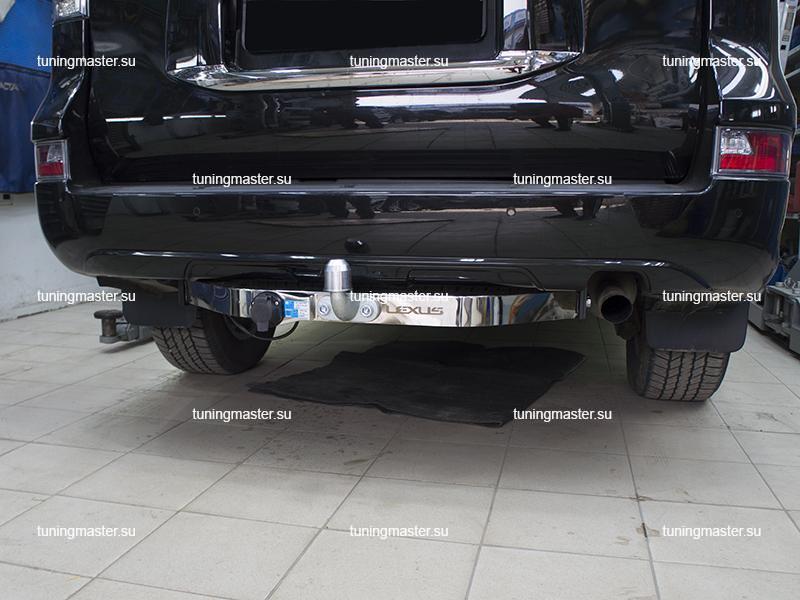 Фаркоп Lexus GX460 с хромированной накладкой