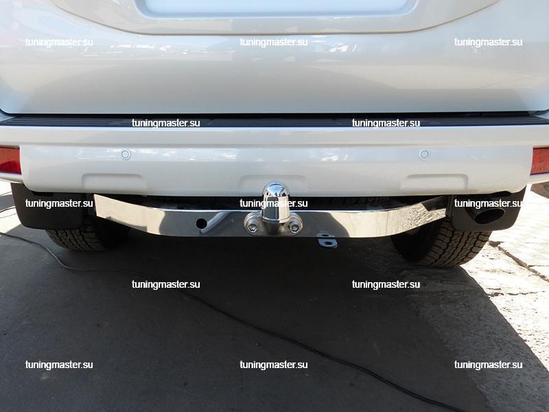 Фаркоп Toyota Land Cruiser 150 с нержавеющей накладкой