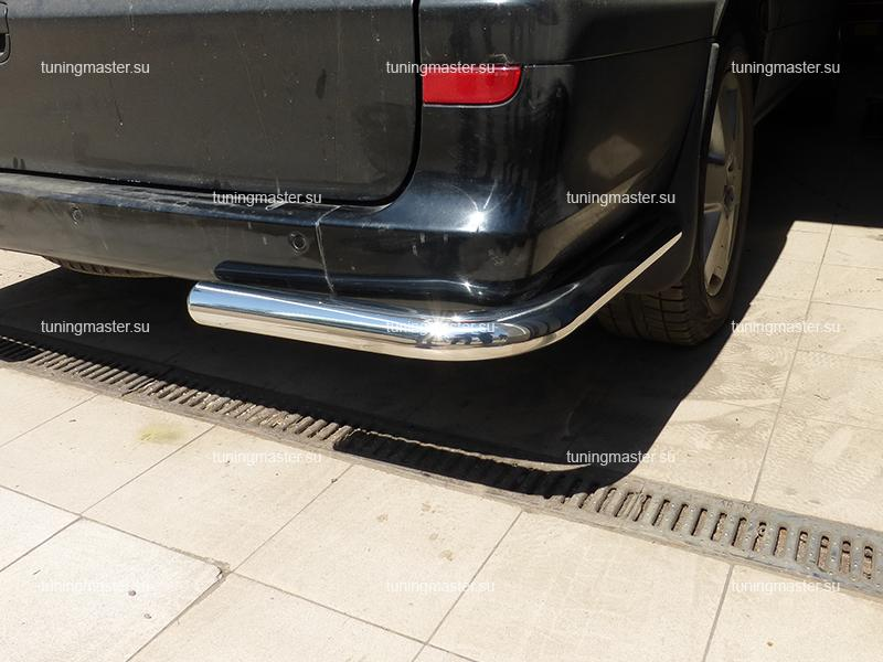 Защита заднего бампера Mercedes Benz Vito углы Ø70