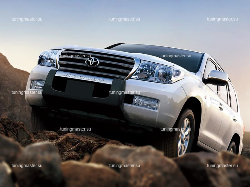 Накладка на передний бампер Toyota Land Cruiser 200
