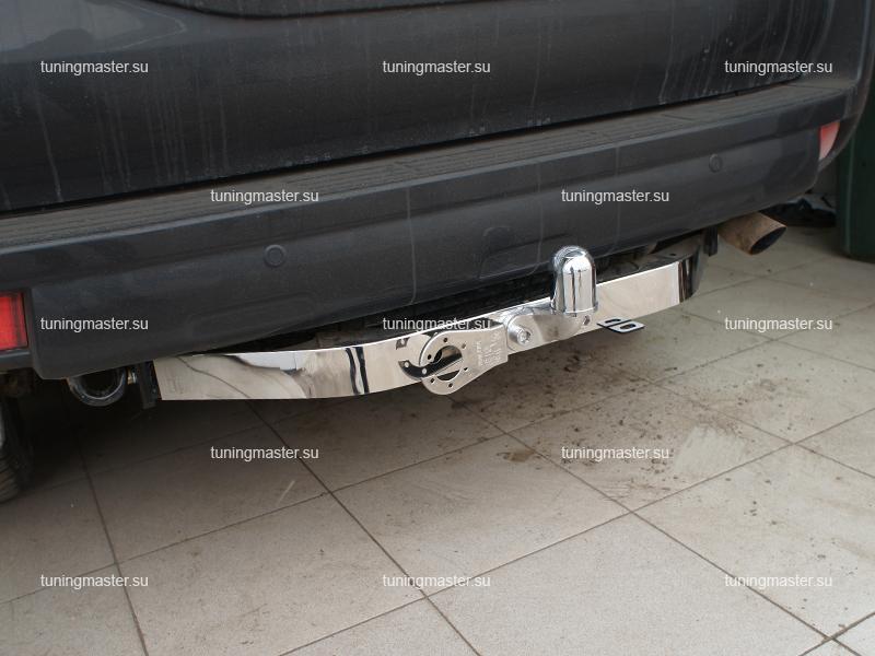 Фаркоп Toyota Land Cruiser Prado 150 с хром накладкой