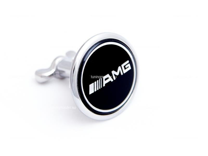 Эмблема на капот Mercedes Benz AMG Black (45мм)