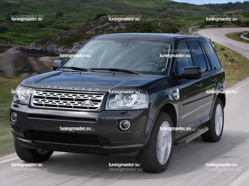 Пороги Land Rover Freelander 2 (Black)