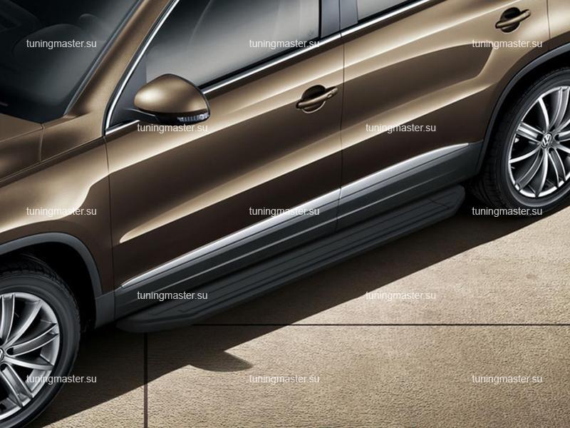 Пороги Volkswagen Tiguan (Black)