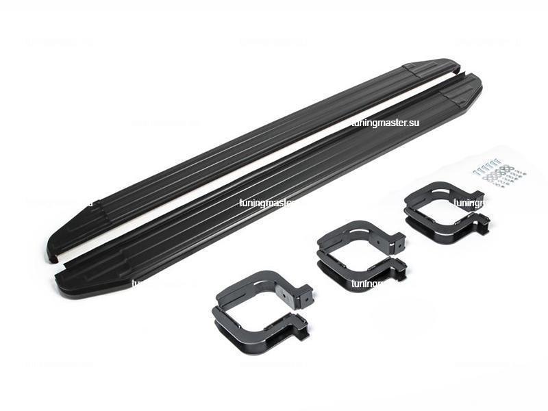 Пороги Mitsubishi L200 (Black)