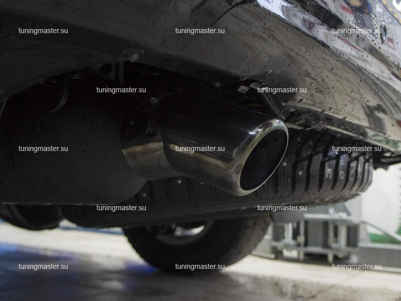 Насадка на глушитель Toyota Land Cruiser 200 (темный хром)