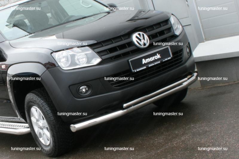 Защита переднего бампера Volkswagen Amarok труба двойная Ø76/42