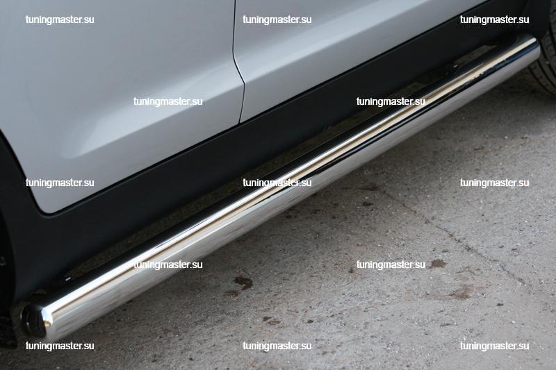 Пороги Kia Sportage труба Ø76 3