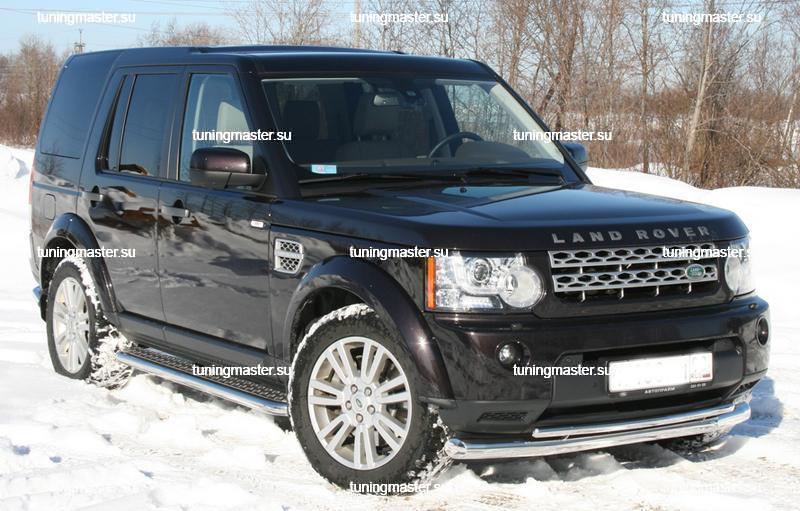 Пороги с листом Land Rover Discovery IV Ø60 3
