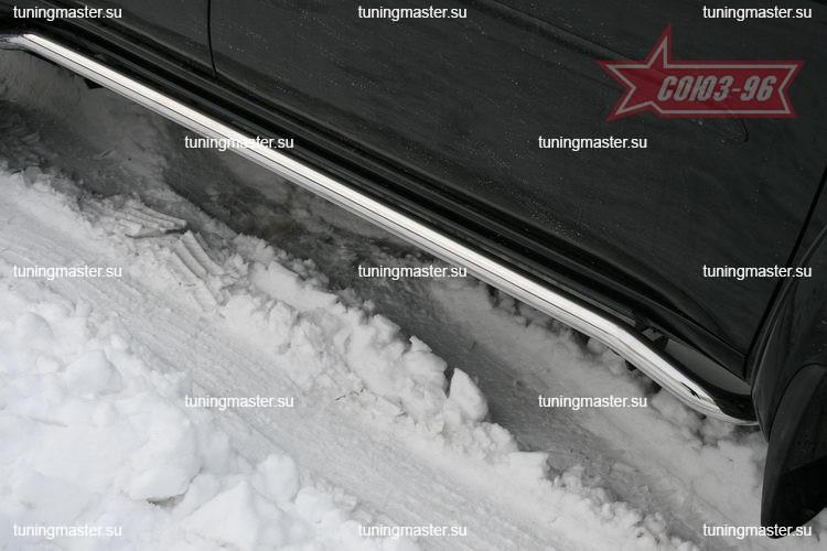 Защита штатных порогов Mitsubishi Pajero Sport Ø42