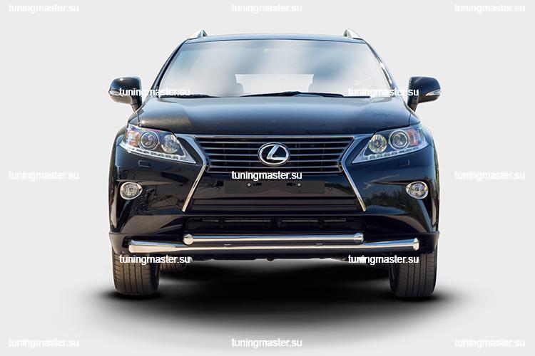 Защита переднего бампера Lexus RX 450H труба двойная Ø76/60 2