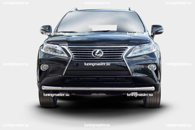 Защита переднего бампера Lexus RX 450H труба Ø60 2