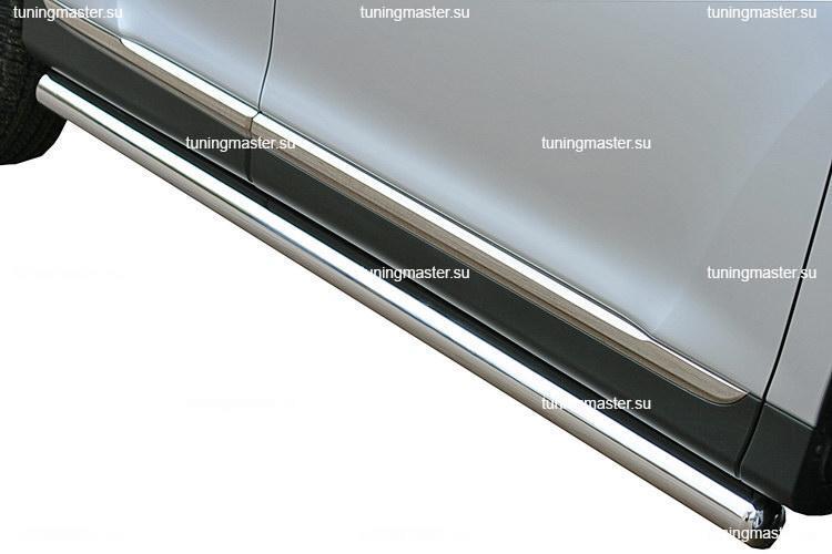 Защита порога Toyota Highlander труба Ø76