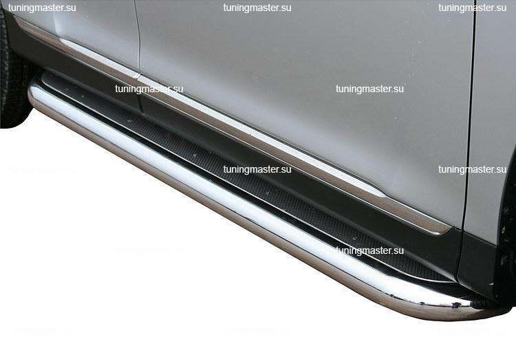 Пороги Toyota Highlander труба с листом Ø76