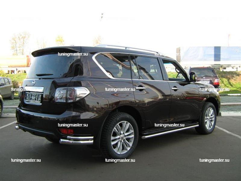 Защита штатного порога d 53 Nissan Patrol (Tehnotec) 2