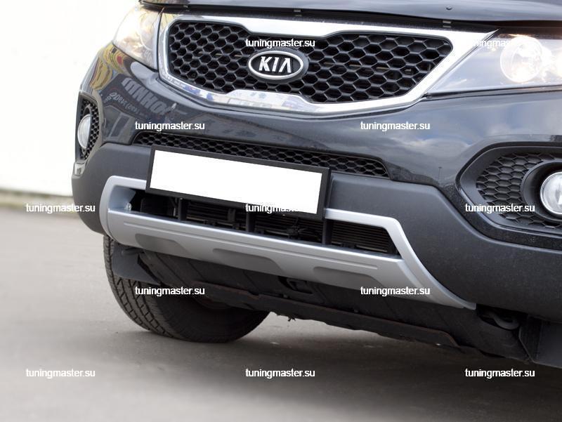 Накладка на передний бампер Kia Sorento 3