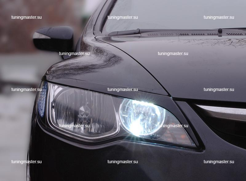 Накладки на фары Honda Civic 4D