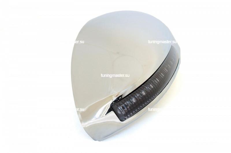 Накладки на зеркала Chevrolet Cruze с повторителями поворота (хром) 3