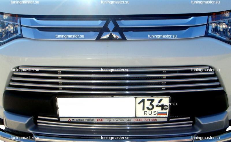 Декоративный элемент воздухозаборника Mitsubishi Outlander Ø16 (2 части)
