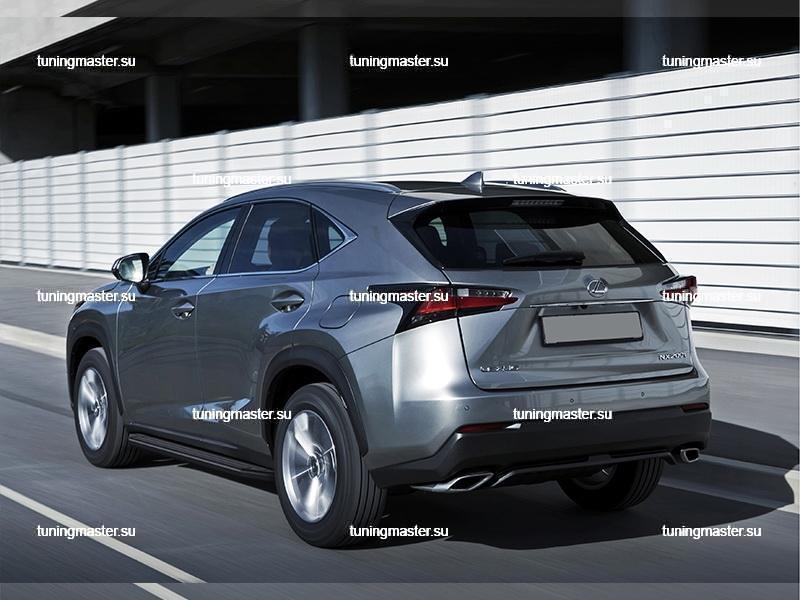 Пороги Lexus NX (Black)